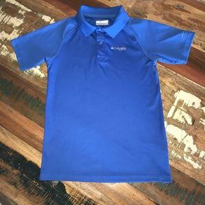 Columbia Polo Boys Medium Blue